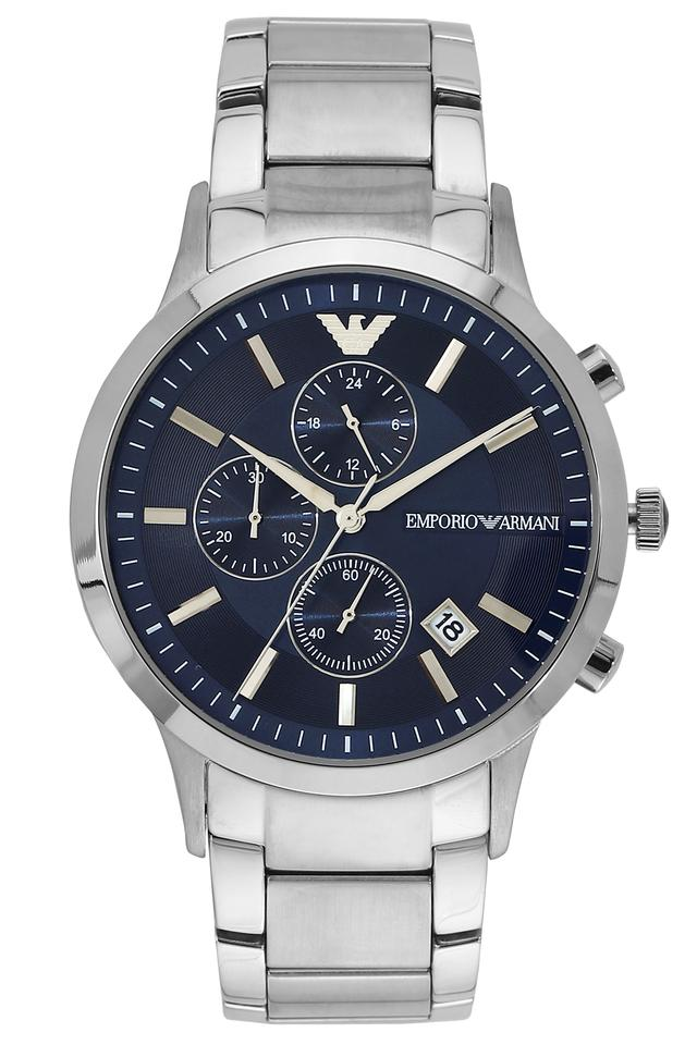 Mens Renato Blue Dial Stainless Steel Chronograph Watch - AR11164I