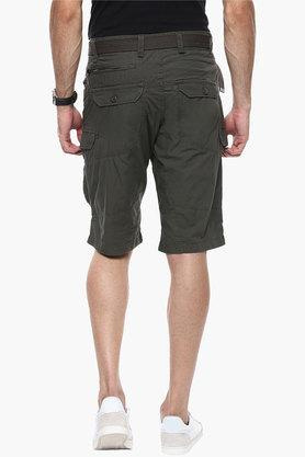 Mens Regular Fit Solid Shorts