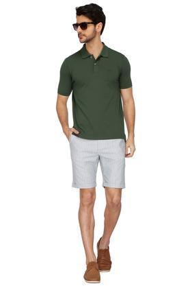 Mens 4 Pocket Striped Shorts