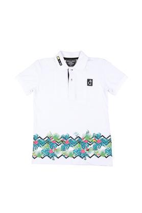 Boys Printed Polo T-Shirt