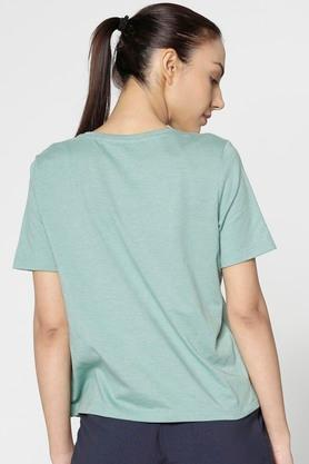 Womens Regular Fit Round Neck Printed Top