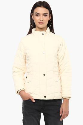 MONTE CARLO Womens High Neck Solid Jacket
