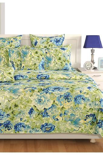 Blue and White Floral Single AC Comfortor