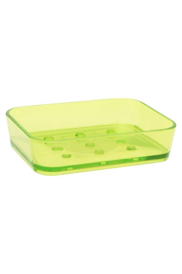 Green Transparent Soap Dish