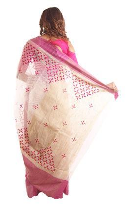 Women Embroidered Cotton Saree