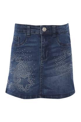 Girls 5 Pocket Embellished Skirt