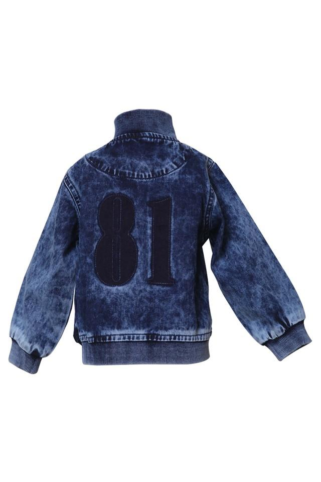 Boys Band Neck Heavy Wash Jacket