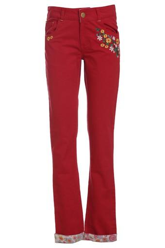 Girls Embroidered Woven Pants