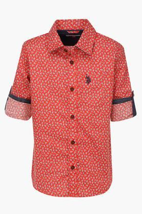 Boys Collared Printed Shirt