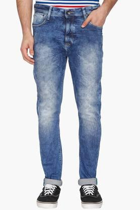 UNITED COLORS OF BENETTON Mens Carrot Fit Stone Wash Jeans - 203024644