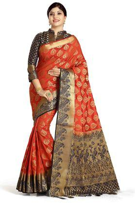 DEMARCA Womens Art Silk Tussar Designer Saree - 204100131_9508