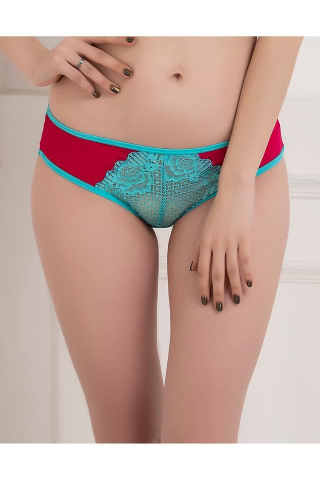 Womens Low Waist Lace Bikini Briefs