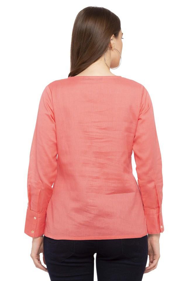 Womens Round Neck Slub Shirt
