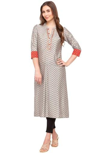 KASHISH -  Grey Kurtas - Main