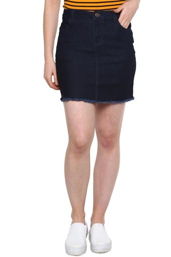 RS BY ROCKY STAR -  Denim Indigo Dark Skirts - Main