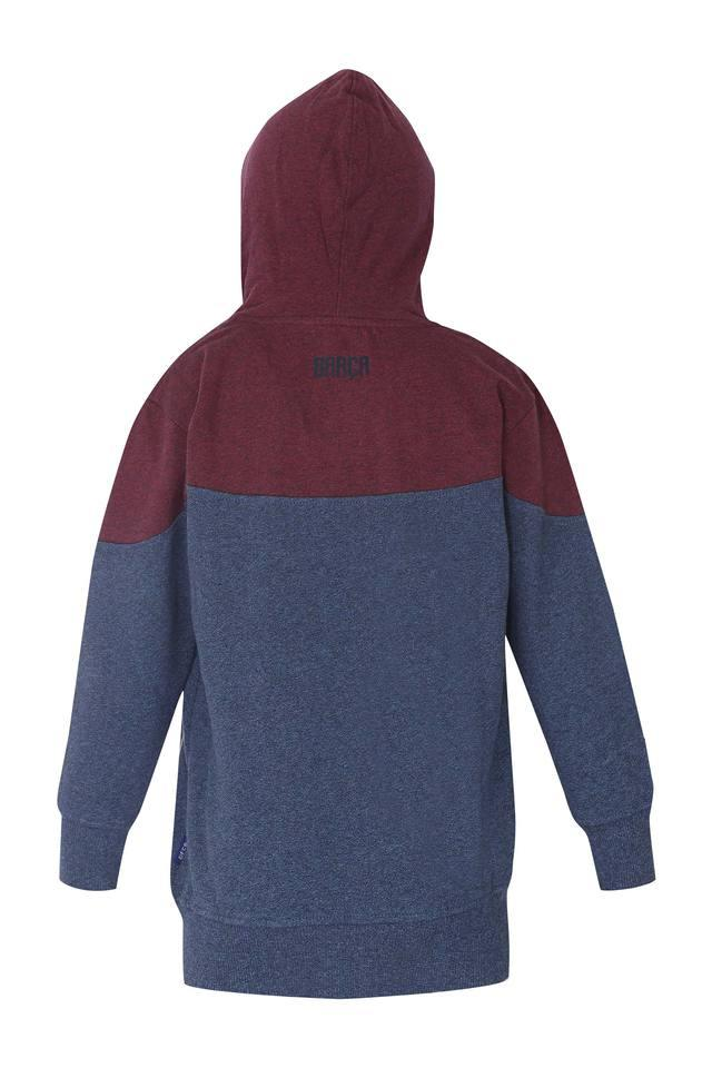 Boys Hooded Colour Block Sweatshirt