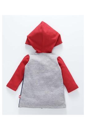 Boys Regular Fit Hooded Colour Block Waistcoat