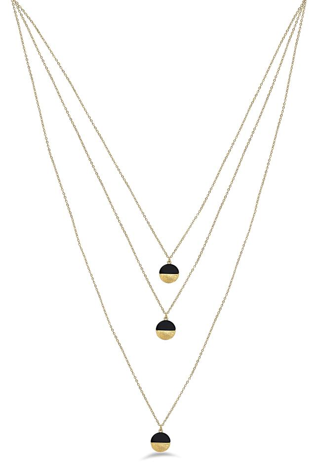 Womens Geometric Layered Chain Necklace