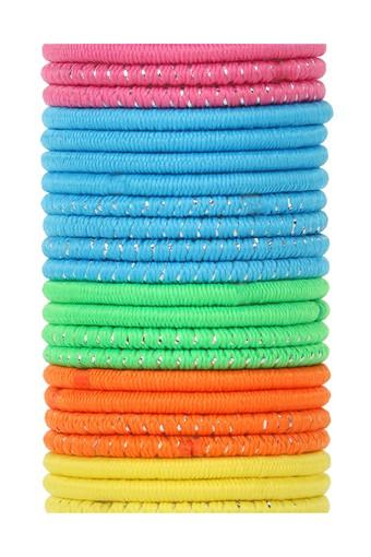 Girls Solid and Printed Hair Rubber Bands Pack of 24