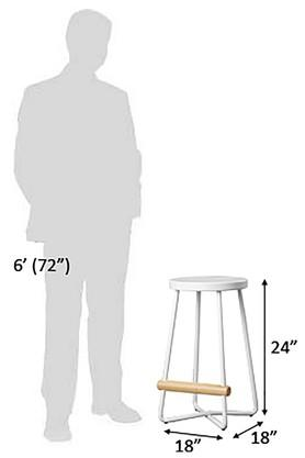 White Nikolnj Bar Stool