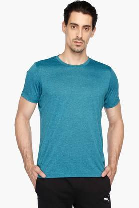 ADIDAS Mens Round Neck Slub T-Shirt
