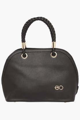 E2O Womens Zipper Closure Satchel Handbag - 203289332