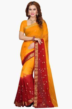 Womens Chiffon Printed Saree
