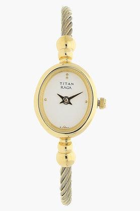 TITANWomens Raga White Dial Analog Watch - NJ197YM04