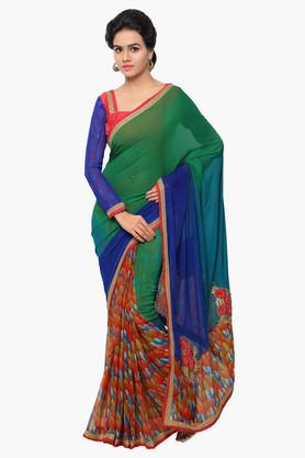 DEMARCA Womens Faux Georgette Printed Saree - 203229561