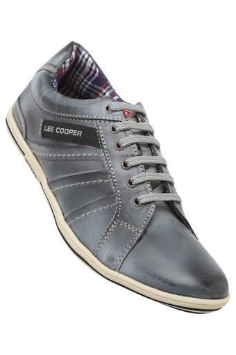 LEE COOPER Mens Leather Laceup Sneakers