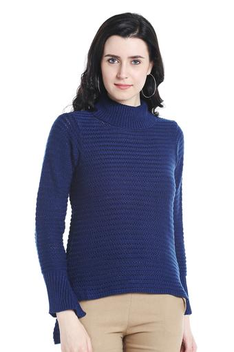 Buy 109f Womens Turtle Neck Knitted Pattern Sweater Online