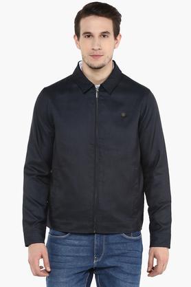 LOUIS PHILIPPEMens Collared Slub Jacket