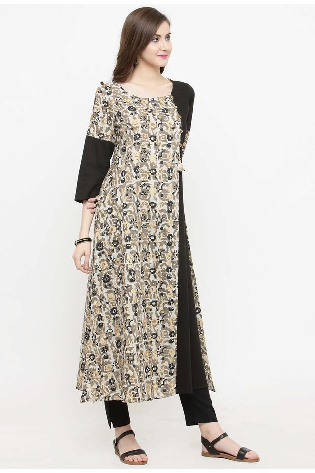 Women Cotton print A-line Kurta
