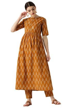 Womens Printed Kurta Set