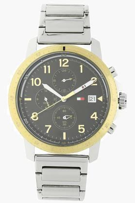 TOMMY HILFIGERBlack Dial Stainless Steel Strap Watch - TH1791361J