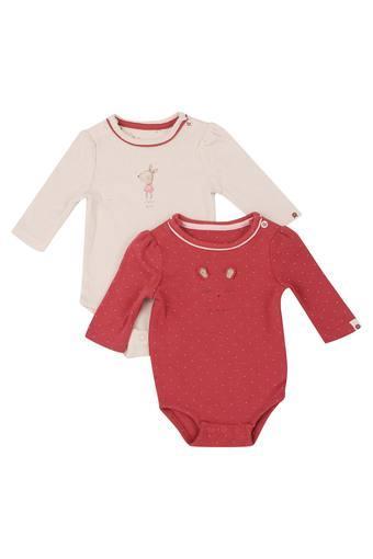 3c71ecd8d Buy MOTHERCARE Kids Round Neck Printed Babysuit - Pack Of 2 ...
