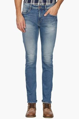 FLYING MACHINEMens Slim Fit Heavy Wash Jeans (Micheal Fit) - 202896866