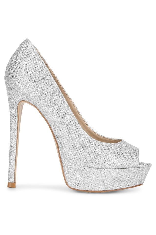 Womens Party Wear Slip On Heel Shoes