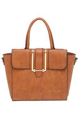 Womens Zip Closure Satchel Handbag