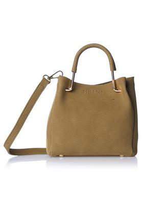 RHESONWomens Zipper Closure Satchel Handbag