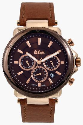 Mens Leather Multifunction Watch - NLC06182742