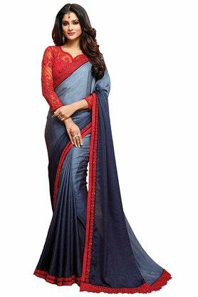 DEMARCA Womens Shaded Georgette Designer Saree
