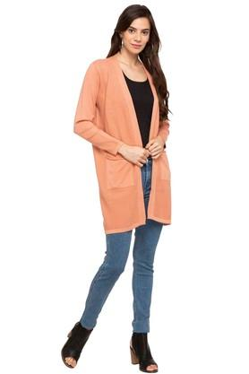 GIPSY Womens Open Front Solid Cardigan