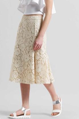 Womens Knee Length Lace Skirt