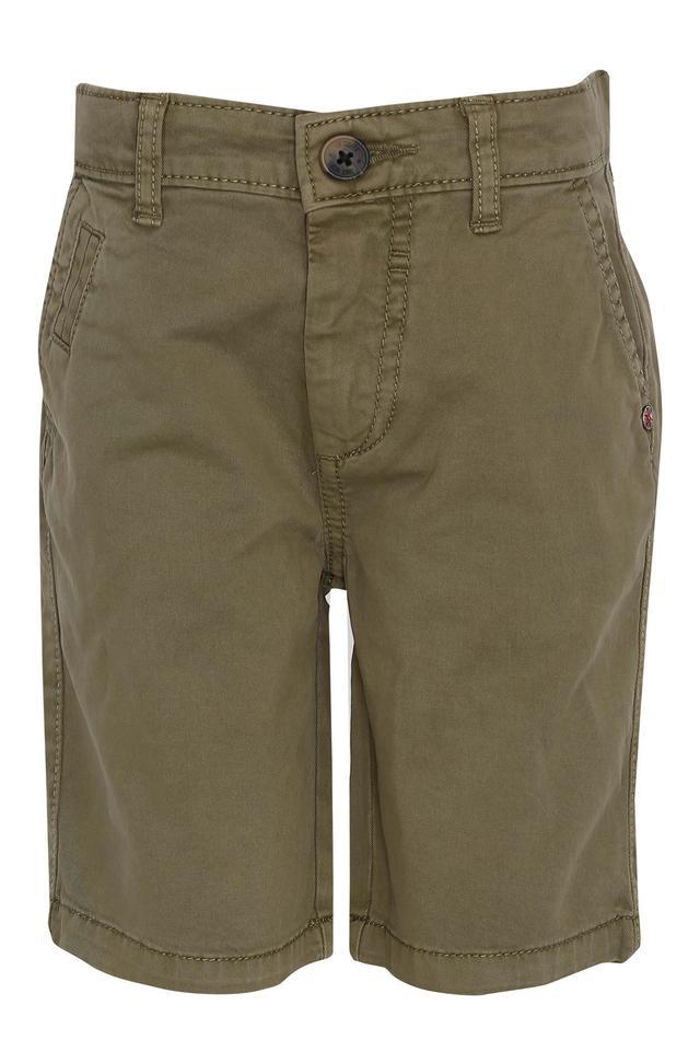Boys 4 Pocket Solid Shorts