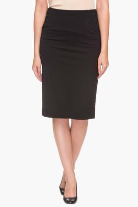 VAN HEUSEN Womens Solid Knee Length Skirt