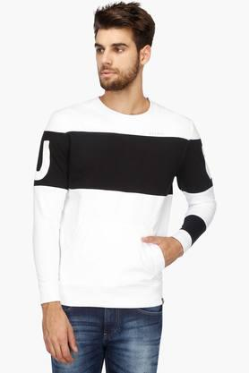 LEE Mens Regular Fit Round Neck Colour Block Sweatshirt