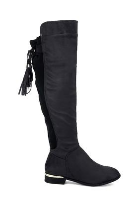 Womens Casual Wear Zip Closure Long Boots