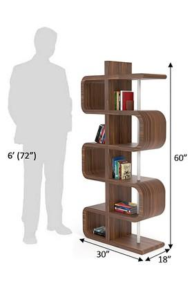 Brown Njik Book Shelf