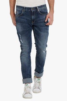 SPYKAR Mens Distressed Effect Jeans (Rover Fit)